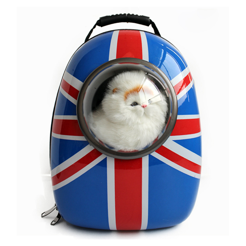 Mutifunctional pet backpack for cat Dog Carrier American flag pattern for small dogs carrier Space capsule pet carrier bag tote for cat dog small size red