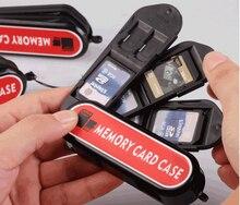 Caixa de cartão para cartão SD TF Memory Card Case Holder loja SIM cartões NANO Anti-choque CASO De Armazenamento Para sony canon gopro câmera