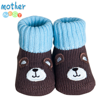 Mother Nest Brand 2017 Baby Socks Newborn Anti Slip Cute Style Toddler Winter Baby Wear Warm Socks 0-6 M