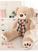 Мягкие плюшевые игрушки большой 130 см коричневые мишки Боути медведь мягкая кукла обниматься Рождественский подарок s2434