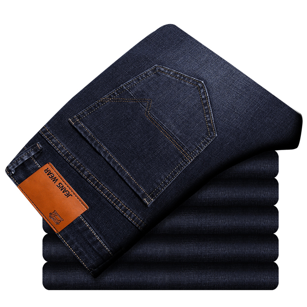 Men's Classic Stretch Black Blue Skinny   Jeans   Autumn Casual Straight Denim Pants For Man Large Size 38 40 Streetwear Male