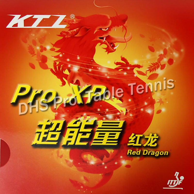 KTL Pro XP Red - Dragon  Pips-in Table Tennis  Rubber With Sponge