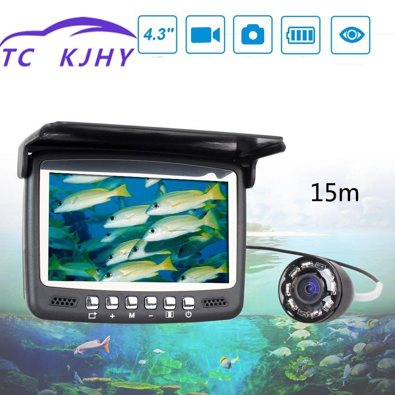 Gps marin 15 M 4.3 pouces dispositif d'hameçonnage visuel haute définition caméra sous-Marine détecteur de poisson caméra sous-Marine recherche de poissons
