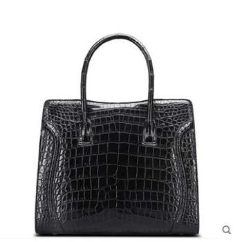 Cestbeau Crocodile skin handbag belly no stitching whole leather handbags leather personality fashion smiley Girl women Bag