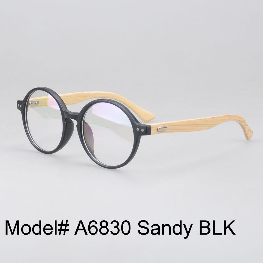 MON DOLI A6830 Plein jante ronde myopie prescription de lunettes lunettes  bambou temple optique cadres c80f2e81c5f5