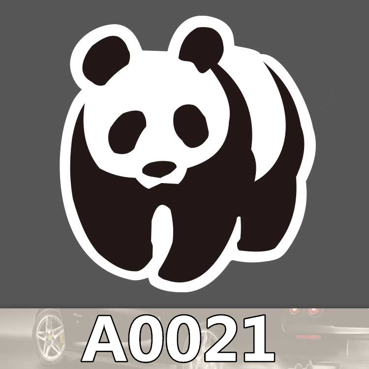Bevle A0021 WWF Protection Association Waterproof Sticker for Cars Laptop Luggage Skateboard Graffiti Notebook Stickers DIY