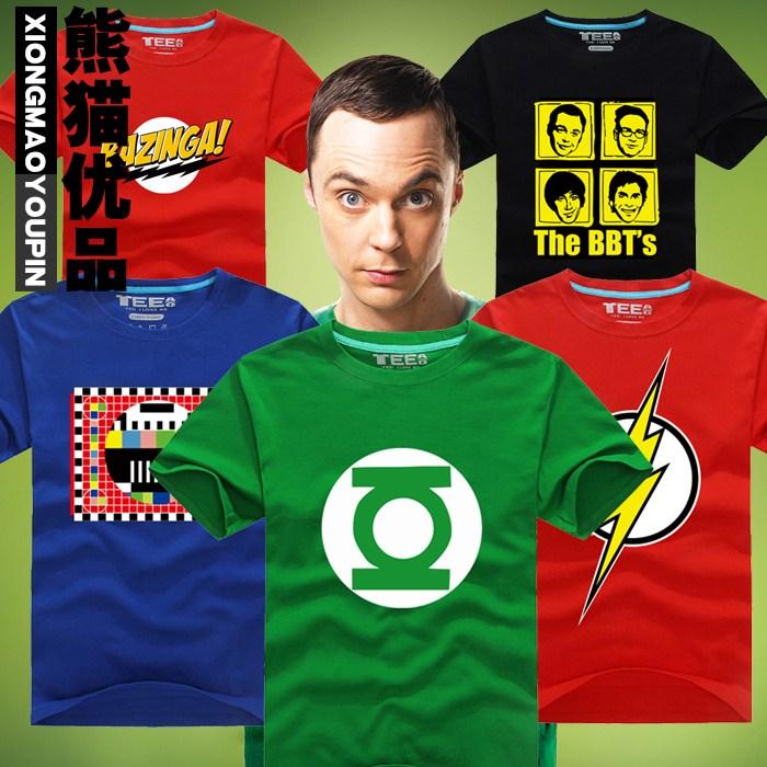 Tv film superman T - shirt The BIG BANG THEORY Sheldon formule GEEK Cosplay  t-shirts Tees Tops 13637e3dc86f
