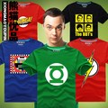 Tv movie superman T-Shirt The BIG BANG THEORY Sheldon fórmula GEEK Cosplay camisetas tes de las tapas