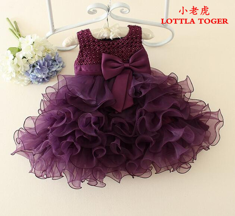 5eb87fa876b Hot Lace flower girls wedding dress baby girls christening cake dresses for  party occasion kids 1