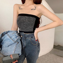 2019 New Fashion Ladies Sleeveless Strapless Tube Bandeau Night Club Crop Top Summer Woman Sexy Off Shoulder Slim Tops