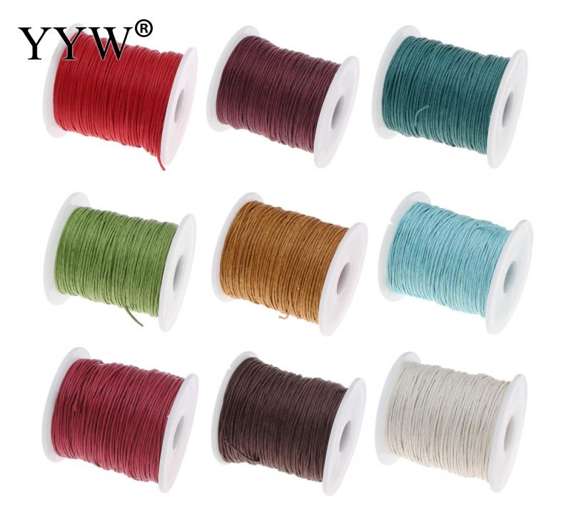 YYW Jewelry Accessories Cord Thread String Beaded Finding 1mm Dia Colorful Waxed Cotton Cord DIY Designer Wax Cords Accessories