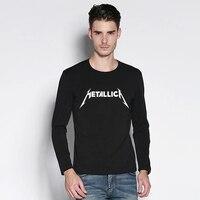Metallica Anthrax Slayer Motorhead Slipknot KORN Music Mens Letter Print T Shirt Long Sleeve Male Printed