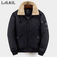 2017 Men turn down collar Bomber Jacket Thick Winter Parkas Army Military EU Jackets Men's Pilot Coat Flight Jacket Coat outwear