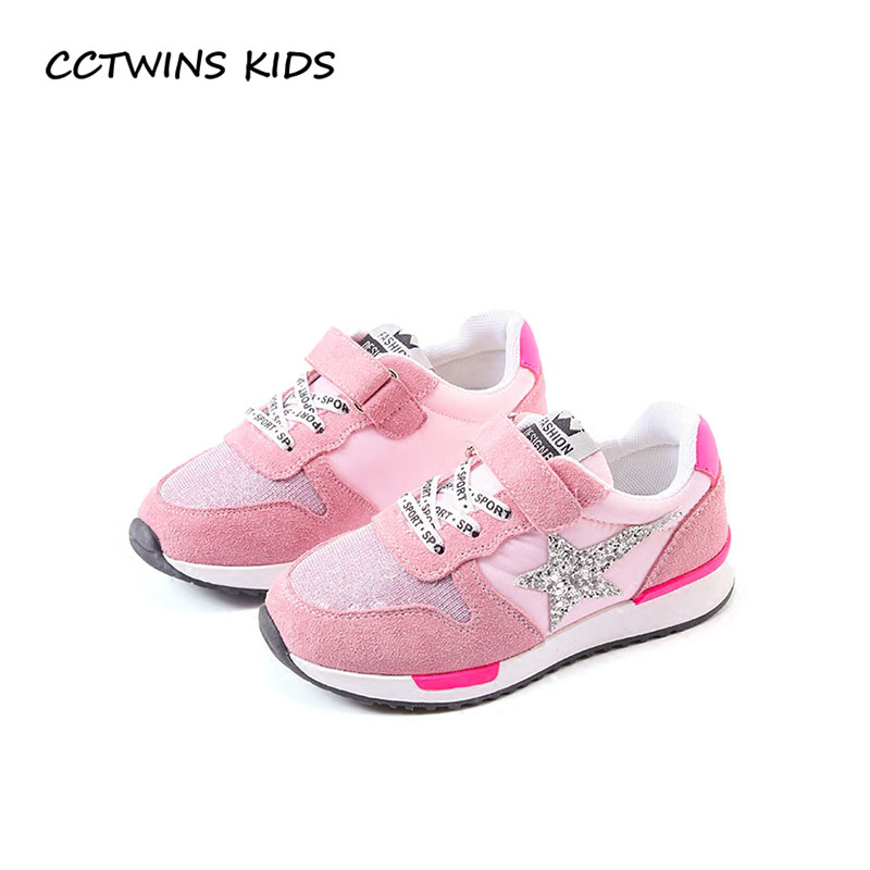 купить CCTWINS KIDS 2018 Spring Baby Girl Fashion Star Shoe Children Pu Leather Trainer Boy Glitter Sport Sneaker Toddler FS2241 по цене 1632.19 рублей