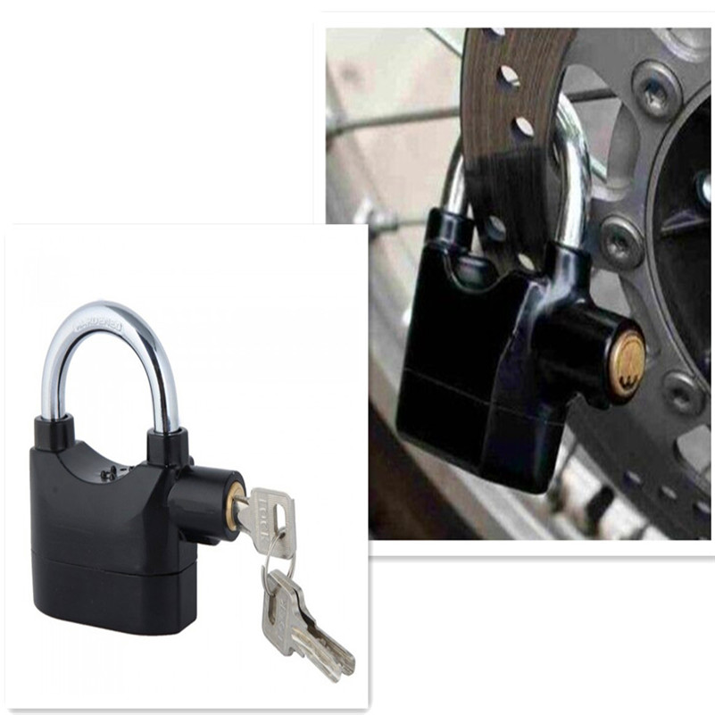 Alarm Lock Anti-theft Motion Sensor Security Padlock with 3 Keys and 6 Replacement Batteries 1pcs anti theft padlock iron gate security locks square small lock width 40mm 50mm 60mm 70mm with keys kf1079