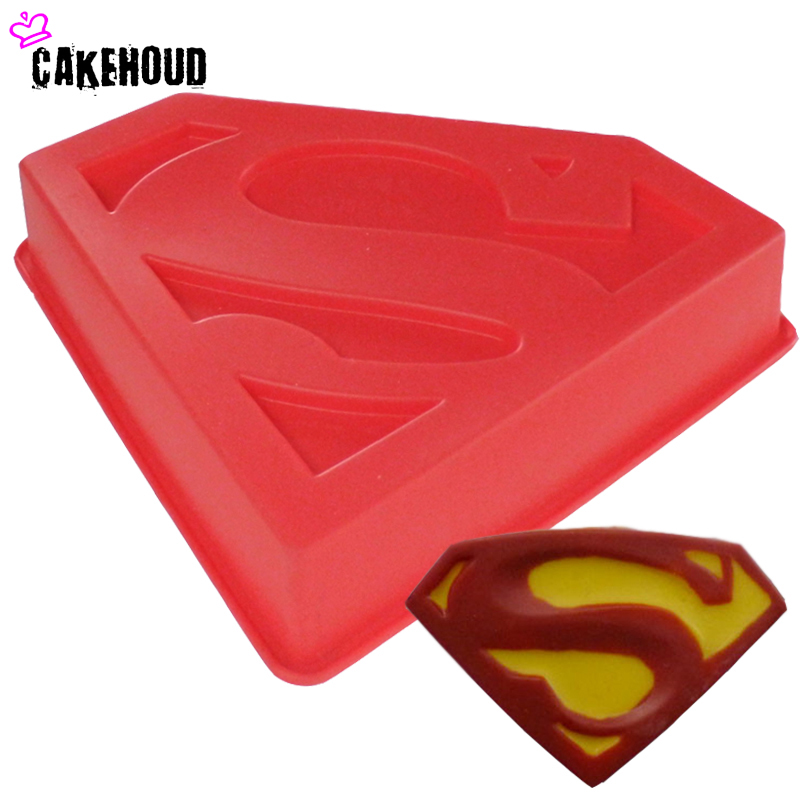 CAKEHOUD 3D Cartoon Superman Logo Cakevorm Fondant Snoep Cookie - Keuken, eetkamer en bar