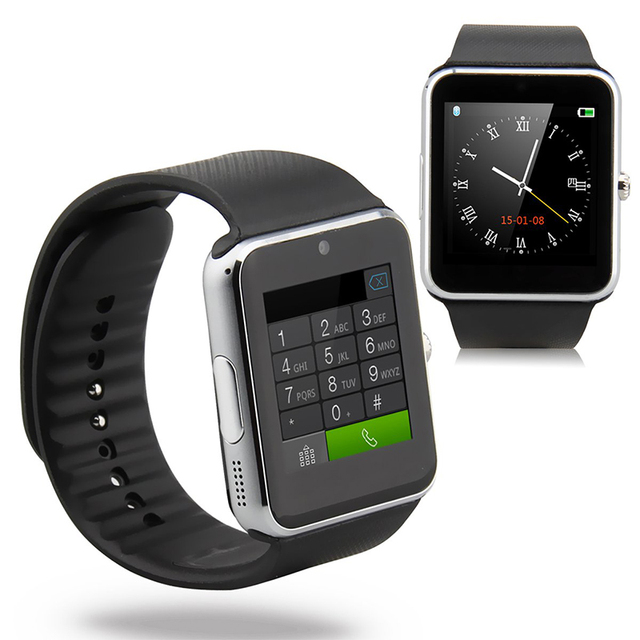 2016 Bluetooth Смарт Часы GT08 Clock Sync Notifier С GSM сим-Карты Смарт Наручные Часы Для Apple iphone iOS Android телефон