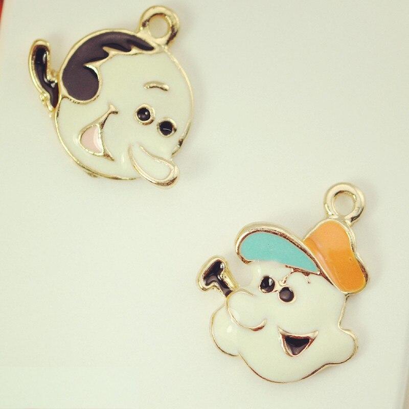 Wholesale 50pcs/lot Popeye cartoon pendant pendant Enamel Alloy accessories of necklacebracelet apparel Decoration Jewelry phone