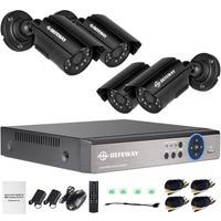 DEFEWAY 1080P HDMI Output 720P DVR 1200TVL Video Surveillance System 4pcs 720P Outdoor CCTV Security Camera