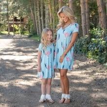 Hot Sale Mommy Girls Summer Dress In Min