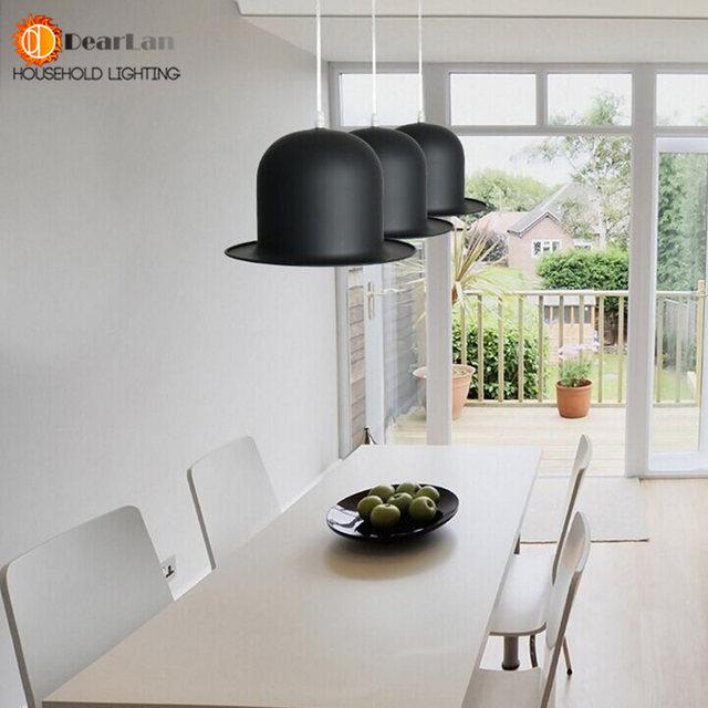 Modern Lamp Holder Jeeves U0026 Wooster Top Hat Pendant Light Aluminum Fedora  Hat Light Dining Room Bedroom Britain Droplight[DK 56]