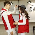 Couple new fall and winter vest female Korean fashion feather padded waistcoat coat  vest waistcoat winter jacket men and women