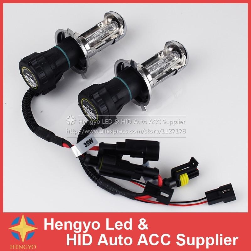 Garantie 1 an bi-xenon H4 HID 35 w 12 V 6000 K 8000 K 10000 K H4 HID ampoules haute et basse lumières phares lampes sans Ballast