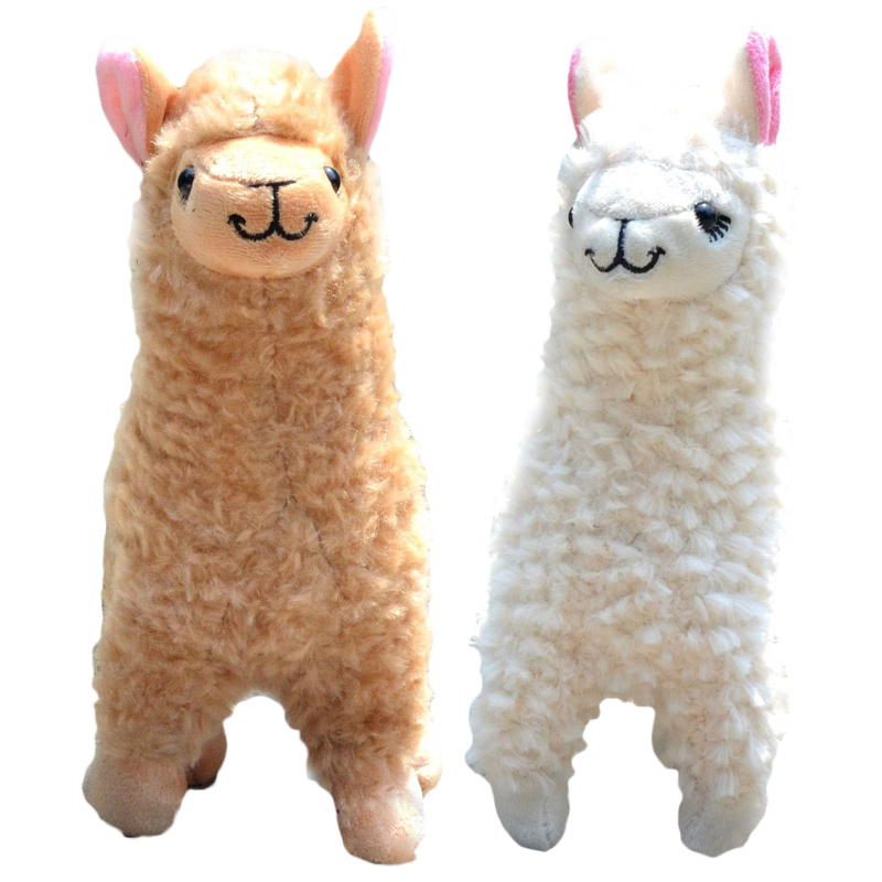 New Arrival 2 PCs Cute Alpaca Plush Baby Toy Camel Cream Llama Stuffed Animal Doll 23 CM Height Soft Plush Toy for Children TY textured padded bikini