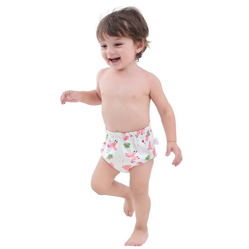 Cute Kids Baby Panties Cloth Washable Infants Children Baby wear Cotton Training Pants Panties Newborn Underwear For Baby Boy in Panties from Mother Kids