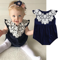 Baby Girl Clothes black lace baby rompers boutique baby outfit Sweety Newborn Baby Clothes Set