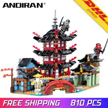 New Ninja Temple DIY Building Block Sets educational Toys for Children Compatible W LegoING ninjagoes(China)