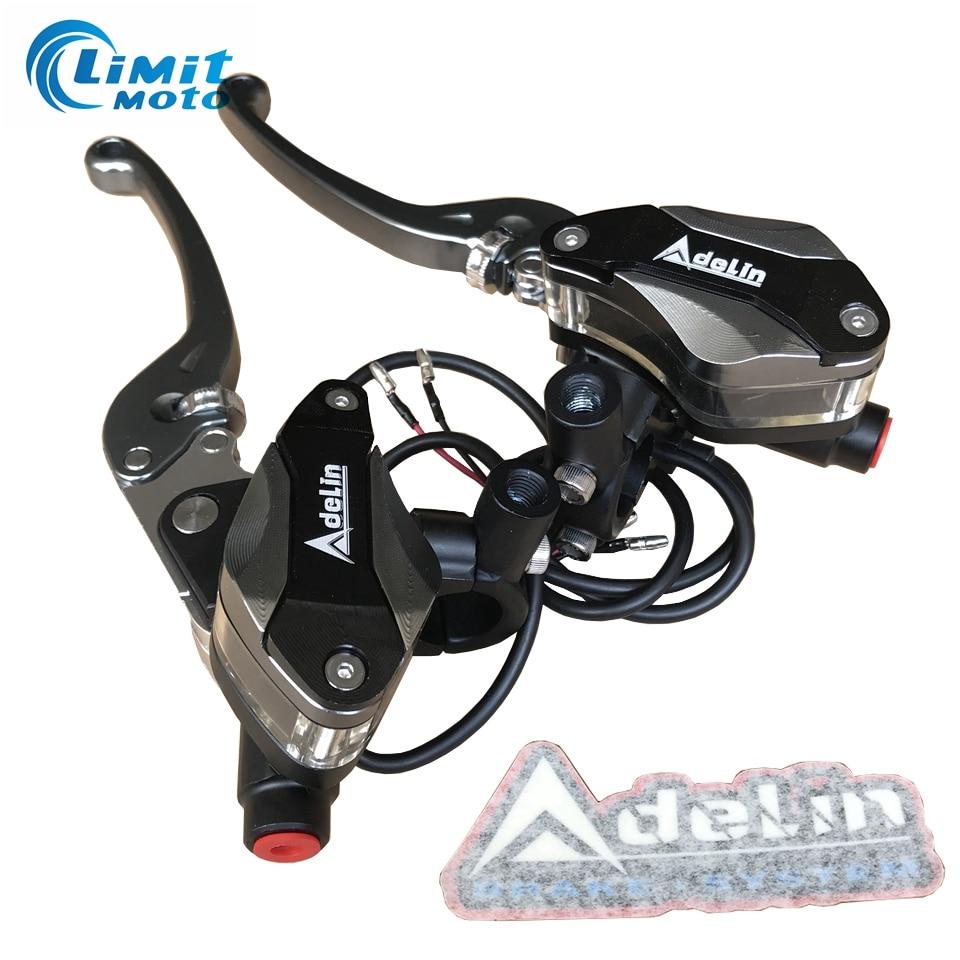 Adelin piston 12 7mm Motorcycle Brake Clutch Master Cylinder Hydraulic Pump 22mm handle bar diameter For