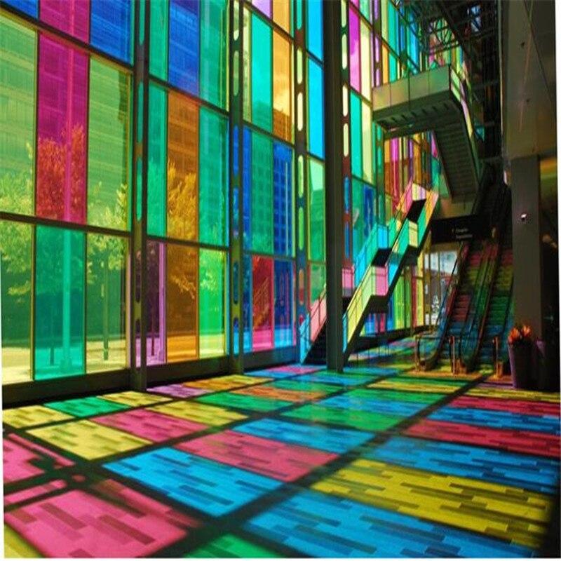 De couleur verre d coratif pet film d 39 isolation de film for Film solaire fenetre