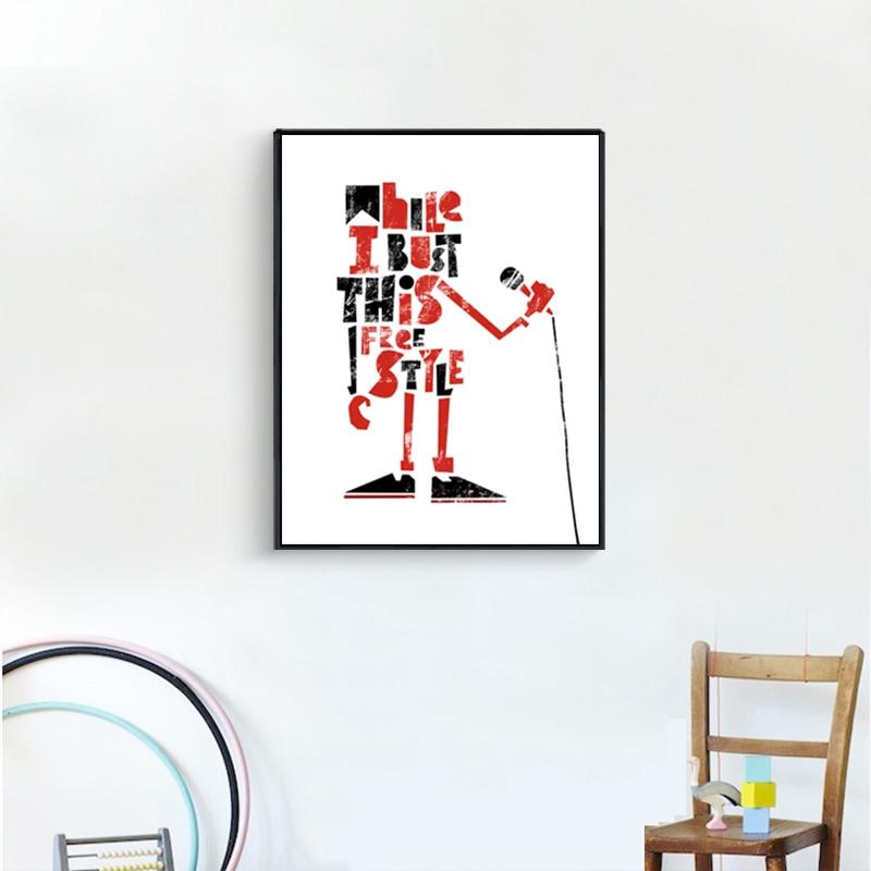 Abstraktes Ölgemälde Mann Singen Leinwand Zeichnung Schwarz Weiß - Wohnkultur - Foto 5