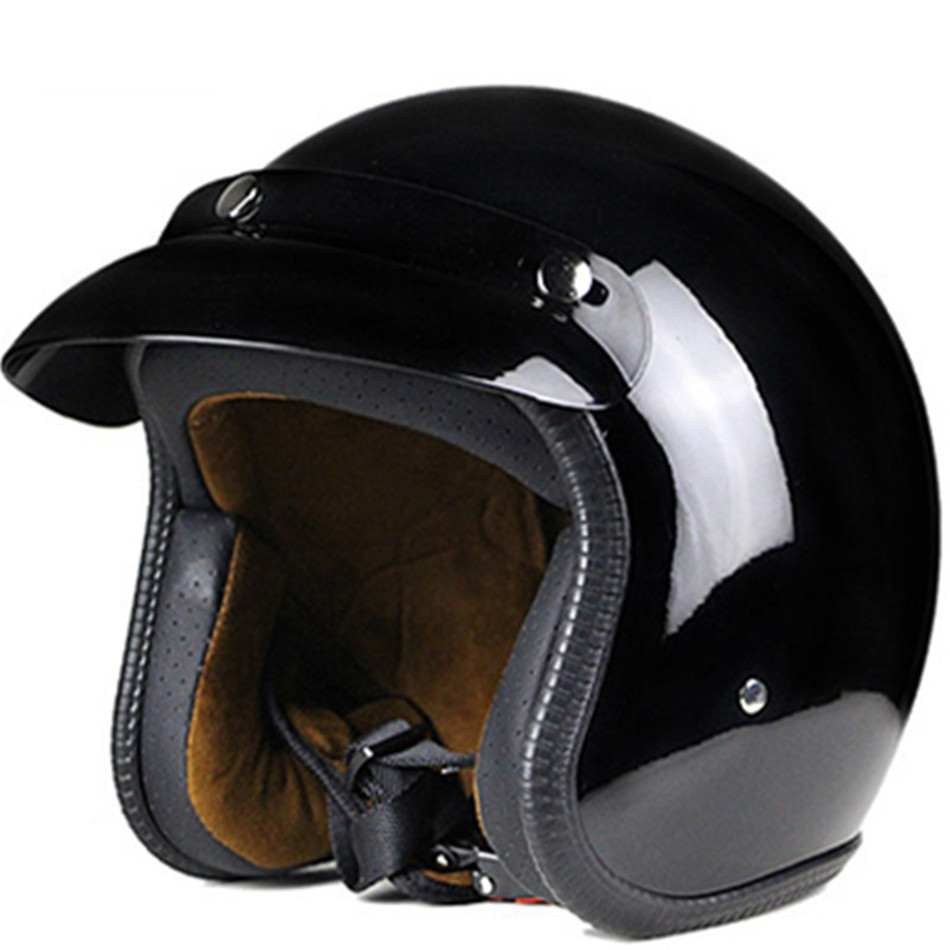 Universal Motorcycle Helmet Harley Retro Open Face Cold Protection Safe Riding Scooter Headpiece