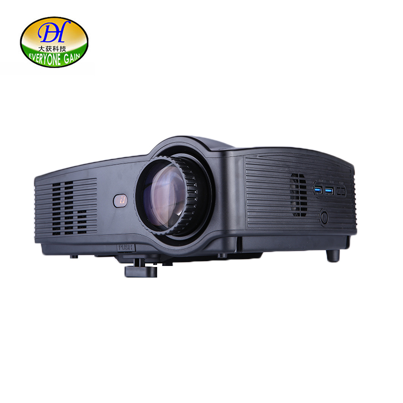 Everyone Gain TL328 LED Projector Android HD Wifi Home Theater Projektor TV LCD Video Projecteur 3D