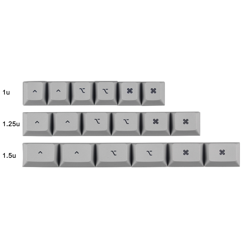 PBT Keycaps MAC Commond And Option Keys 1.25u 1.5 U Dye-Sublimation Cherry MX Key Caps  Switches Mechanical Gaming Keyboard