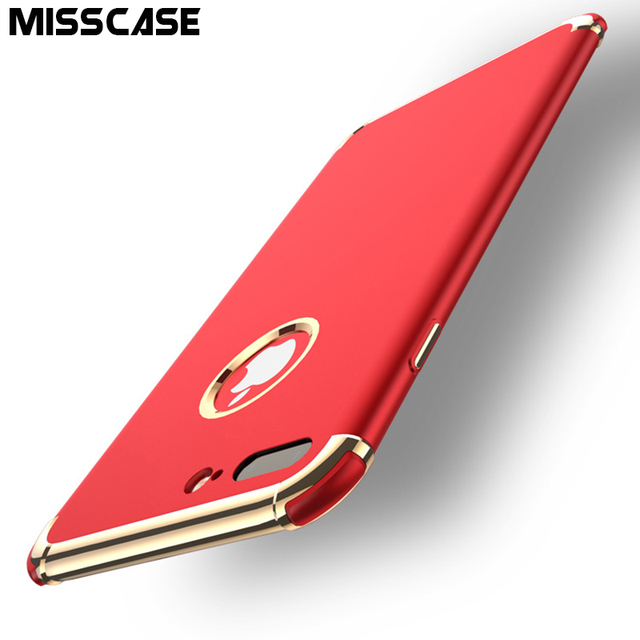 MISSCASE Airbag Protect TPU Soft Silicone Phone Case For iPhone 6 6s 7 plus Cases Adsorption Plating Border Cover for iPhone 6 7