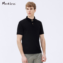 Markless Men's Classic Polo Shirts Male Solid Color Polo Shirt Casual Slim Paul Turn-down Collar Short-sleeve Tops