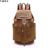 Cow Leather Man Backpack 100 Genuine Leather Man Bag High Quality Men Shoulder Duffel Bag School