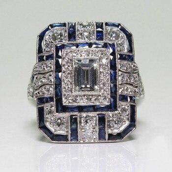 Fashion Square White Zircon Ring
