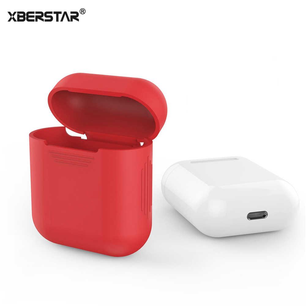 ... Чехол кожаный чехол для Apple AirPods True беспроводные наушники  силиконовый ударопрочный протектор ... 80e9df453161f