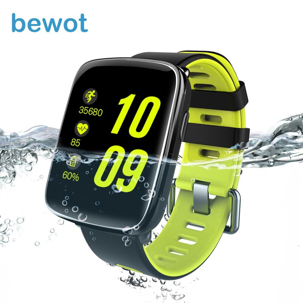 bewot Smart Watch Waterproof Sports Watch Heart Rate Monitor MTK2502 Message Call Reminder smart watches f2 smart watch accurate heart rate
