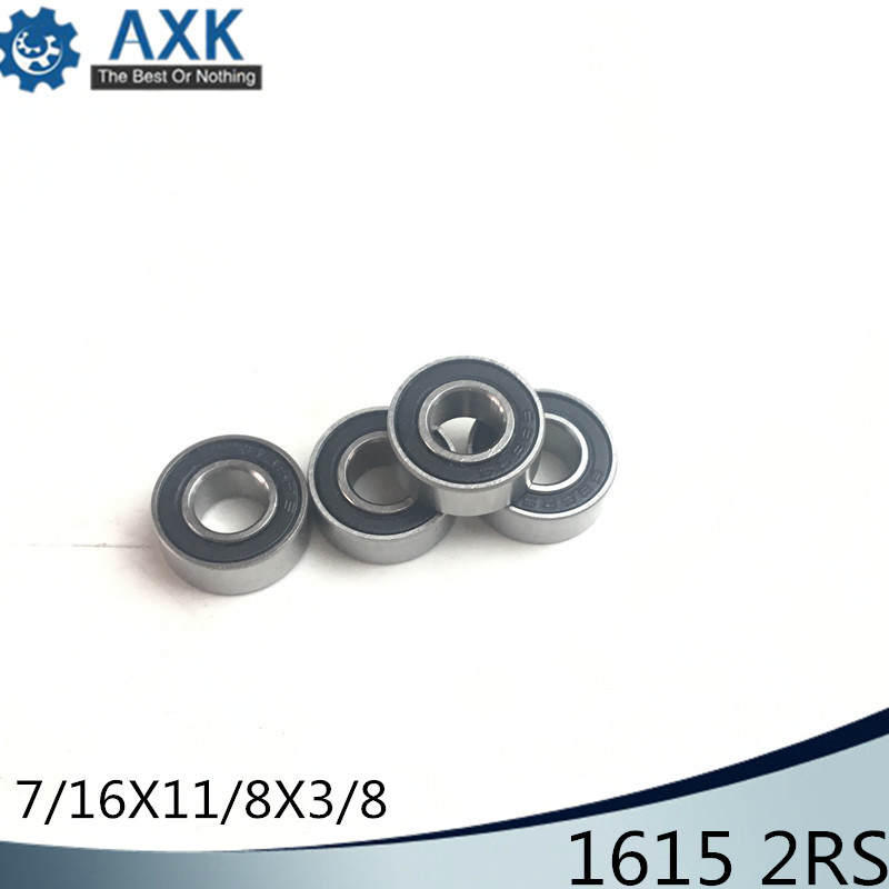 1615 2RS ABEC-1 (10PCS)  7/16x1 1/8x3/8 inch Ball Bearings 1615RS1615 2RS ABEC-1 (10PCS)  7/16x1 1/8x3/8 inch Ball Bearings 1615RS