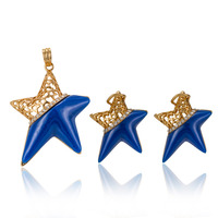 MUKUN Star model Stainless Steel Necklaces Jewelry sete Love Cute Boys Girls Necklace Earing For Women Wedding Jewelry Set
