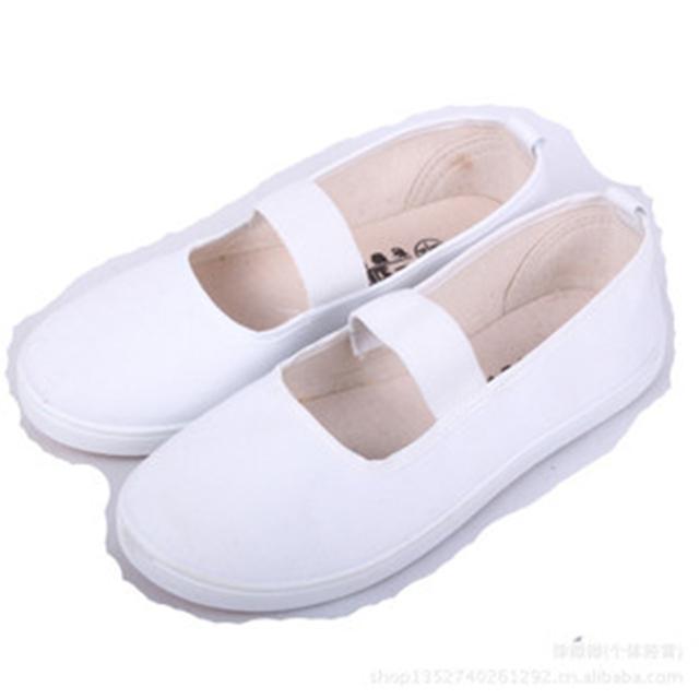 2017 Hot Macio Sapatos de Dança de Balé Para A Menina Mulheres de Fitness Confortável Respirável Canvas Prática Ginásio Chinelos Sapatos Freeshipping