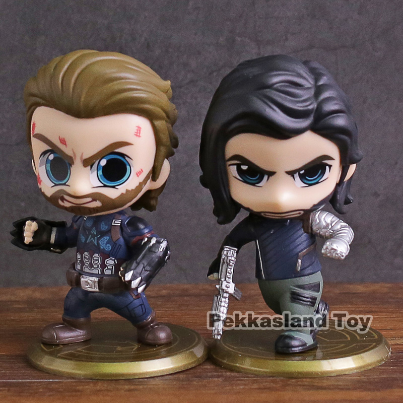 Captain America Figures Hot Toys COSBABY Collection Avengers Infinity War Doll