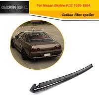 Carbon Fiber Car Racing Rear Spoiler Lip Wing for Nissan GTR R32 Sedan 1989 1994