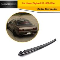 Carbon Fiber Car Racing Rear Spoiler Lip Wing for Nissan GTR R32 Sedan 1989 1994