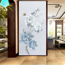 PSHINY 5D DIY Diamond embroidery sale Blooming white flowers Picture Full Square rhinestone display diamond painting cross stich
